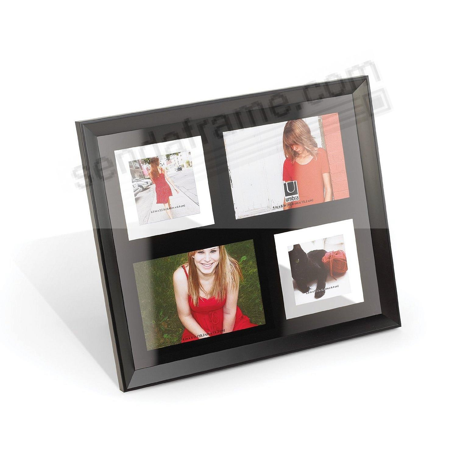 Umbra ebony black float 4 opening MARKEL COLLAGE frame - Picture ...
