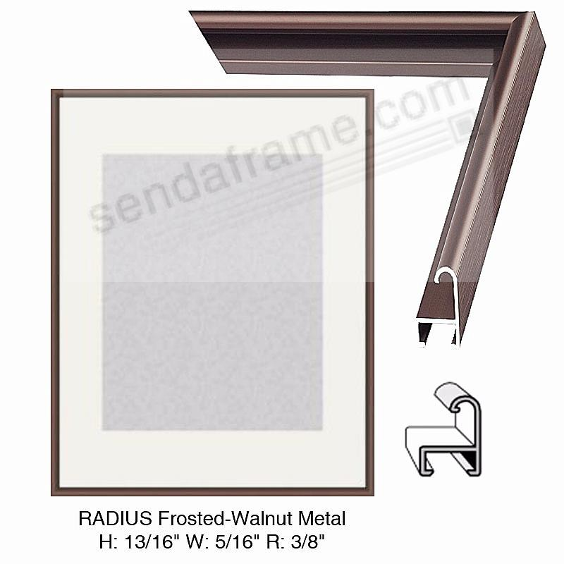Custom-Cut™ RADIUS Frosted-Walnut Metal H:13/16 W:5/16 R:3/8