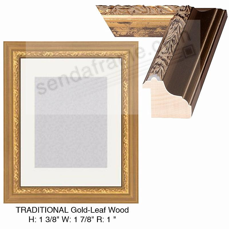 Custom-Cut™ TRADITIONAL Textured Gold-Leaf H:1-3/8 W:1-7/8 R:1