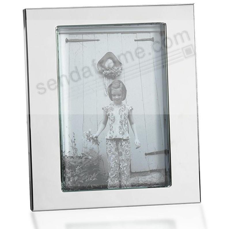 Thick Glass Mirror Border Silver Plated Picture Frame By Towle