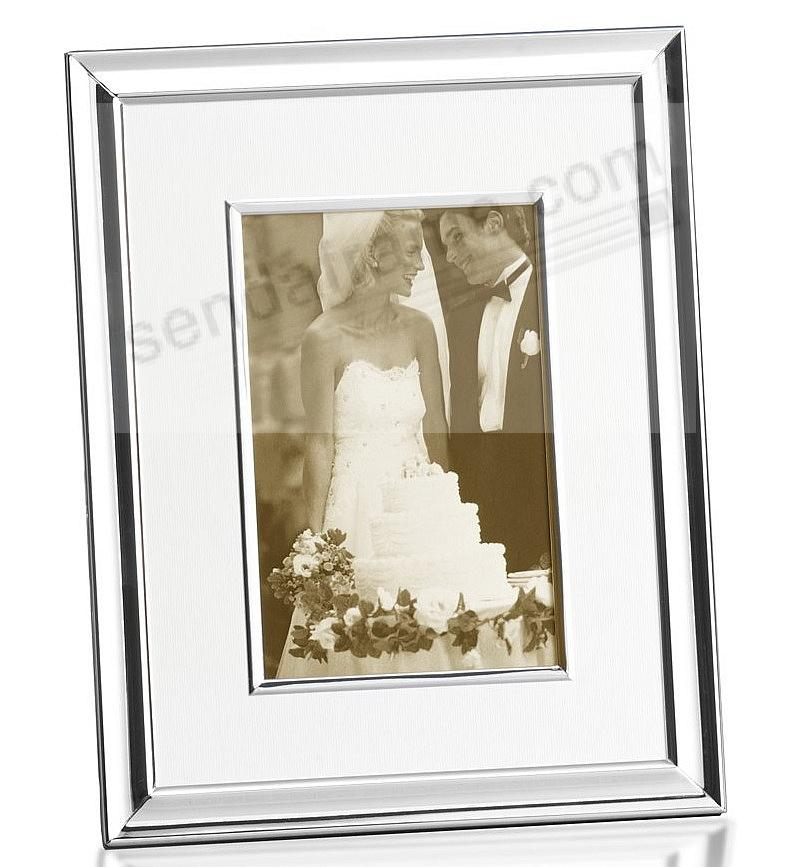Ivory Linen Mat Silver Plated Picture Frame By Towle Picture