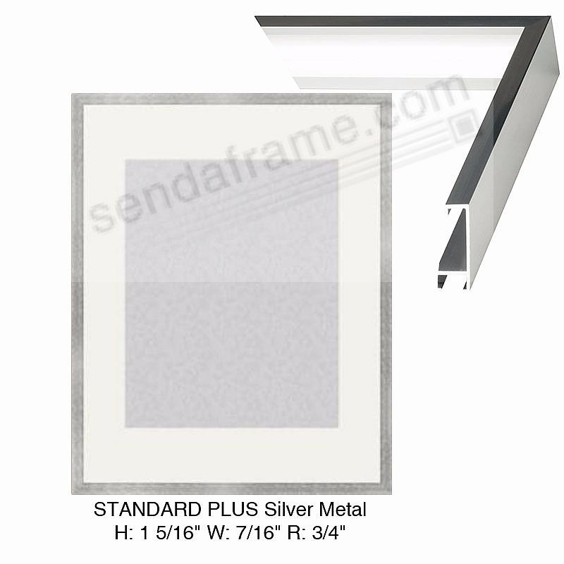 Custom-Cut™ STANDARD PLUS Silver Metal frame H:1-5/16 W:7/16 R:3/4
