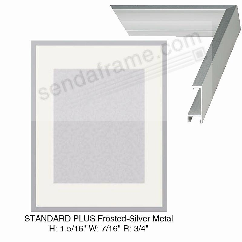 Custom-Cut™ STANDARD PLUS Frosted-Silver Metal frame H:1-5/16 W:7/16 R:3/4