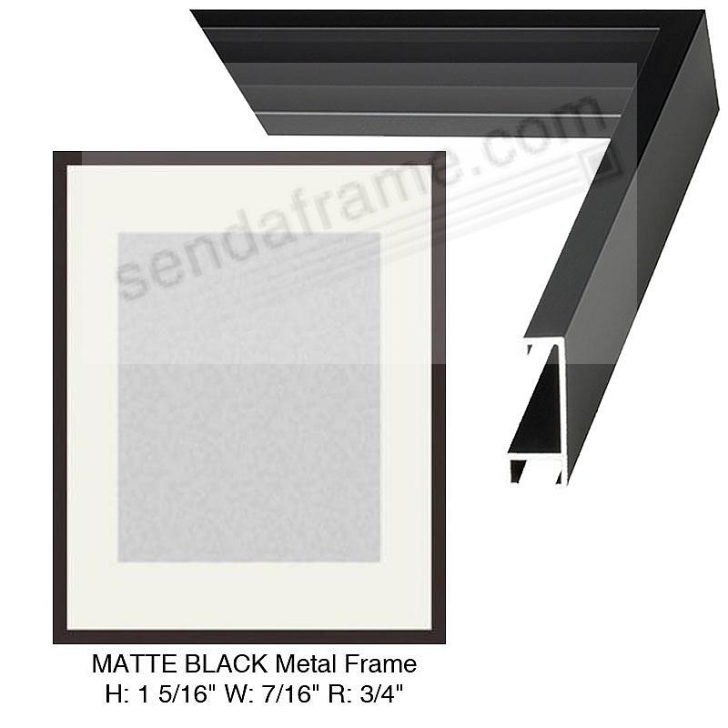 Custom-Cut™ STANDARD PLUS Matte-Black Metallic frame H:1-5/16 W:7/16 R:3/4