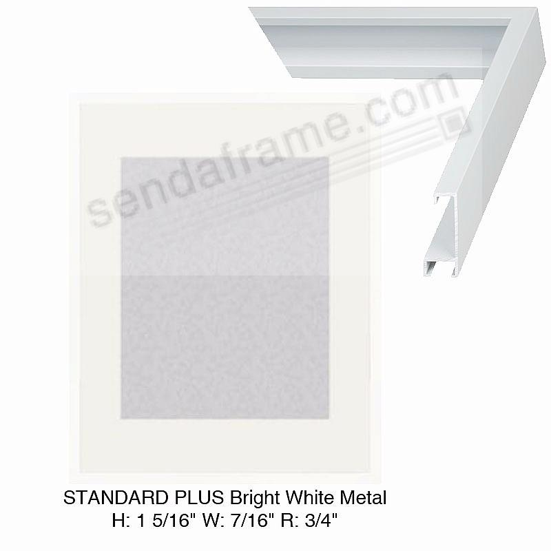 Custom-Cut™ STANDARD PLUS Bright-White Metal frame H:1-5/16 W:7/16 R:3/4