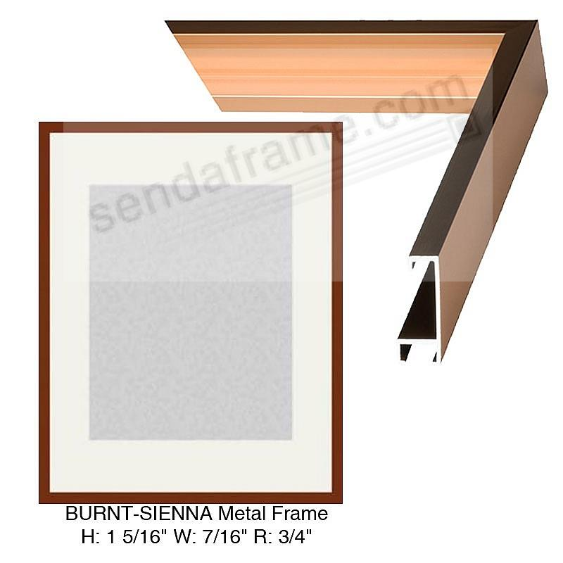 Custom-Cut™ STANDARD PLUS Burnt-Sienna Metal frame H:1-5/16 W:7/16 R:3/4