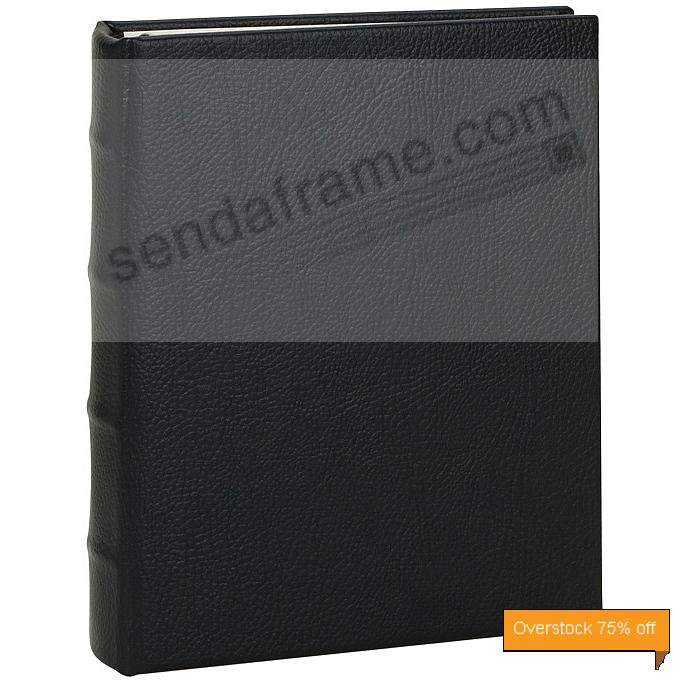 Rustico-Black bonded leather 1-up portable 3-ring Album with slip-in pockets<br>by Graphic Image&trade;