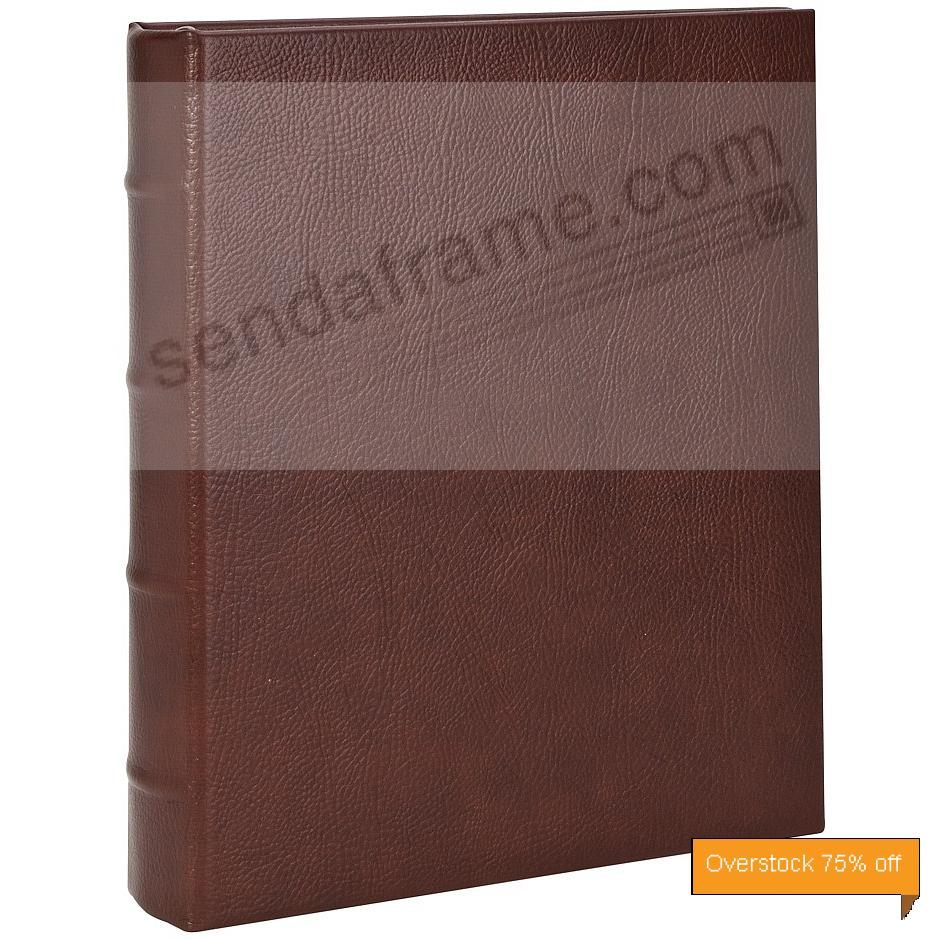 Rustico-Brown eco- leather 2-up Clear Pocket 4-ring Album<br>by Graphic Image&trade;