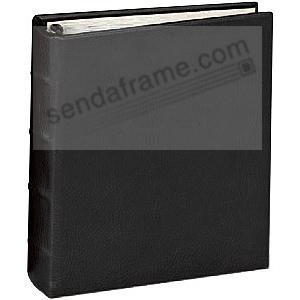 Post Impressions™ System standard 3-ring  binder (unfilled) Rustico-Black eco-leather