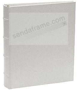 Saffiano-Silver Bonded Leather 1-up 3-ring Album with slip-in pockets<br>by Graphic Image&trade;