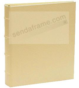Saffiano-Gold eco-leather 2-up Clear Pocket 4-ring Album<br>by Graphic Image&trade;