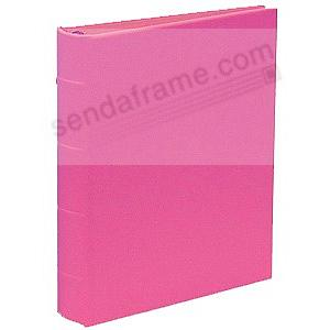 Saffiano-Pink eco-leather 2-up Clear Pocket 4-ring Album<br>by Graphic Image&trade;