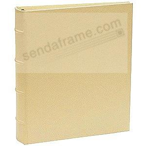 Standard 3-ring Saffiano-Gold eco-leather album with slip-in pocket pages by Graphic Image™