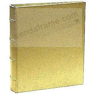 The Post Impressions™ System standard 3-ring Saffiano Golden-Tan Eco-Leather binder (unfilled)