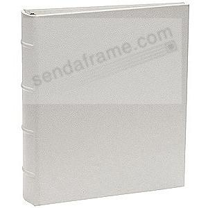 The Post Impressions™ System Standard 3-ring Saffiano Silver eco-leather binder (unfilled)