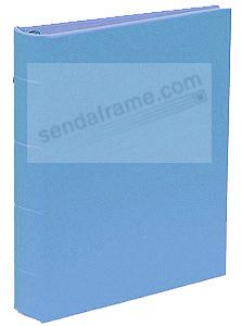 The Post Impressions™ System standard 3-ring Saffiano Blue eco-leather binder (unfilled)