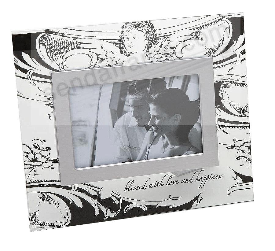 BLESSED glass photo frame