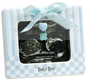 baby boy ultrasound picture frame