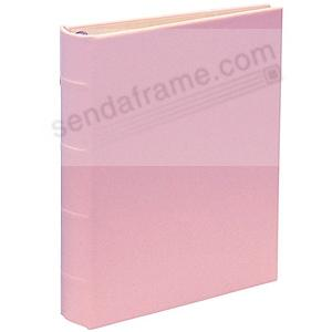 Baby-Pink bonded leather 1-up portable 3-ring Album with slip-in pockets by Graphic Image™