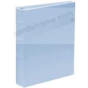 Standard 3-ring Baby-Blue Bonded leather album with slip-in pockets by Graphic Image™
