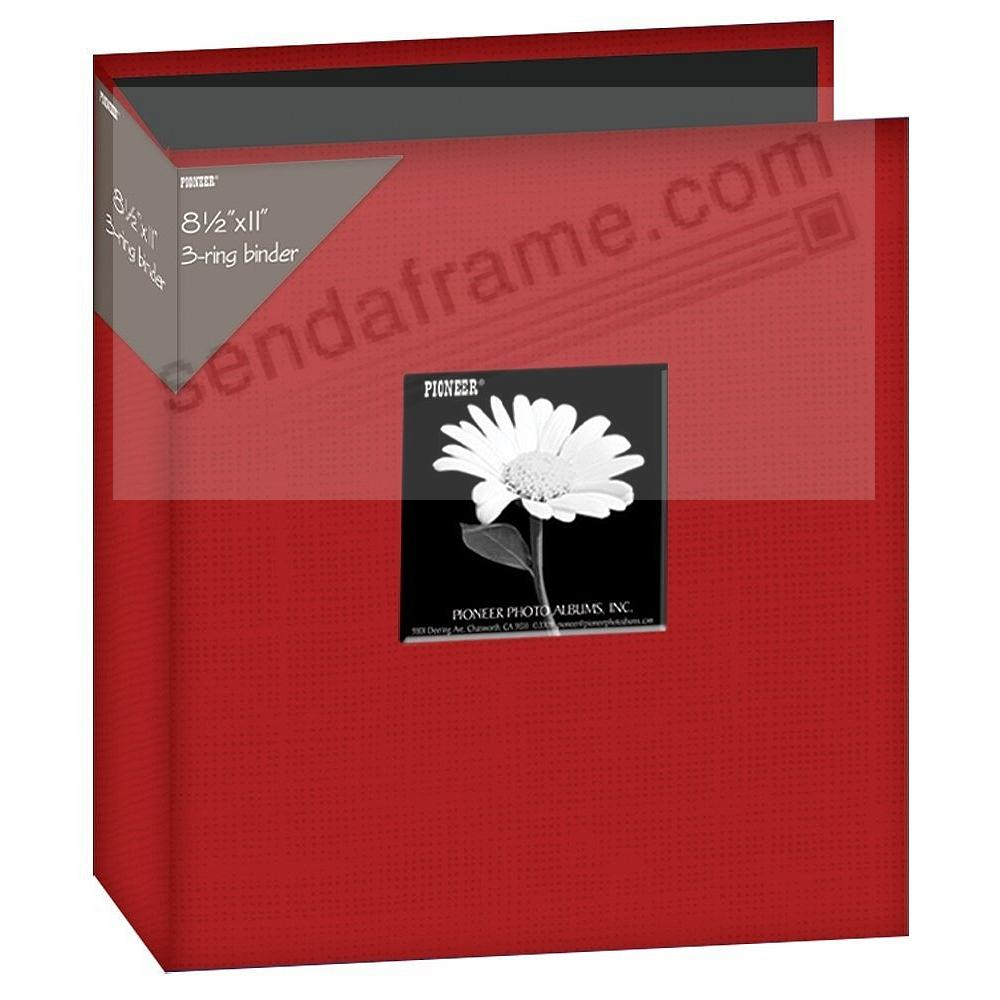 Red Standard-3-Ring 8½ x 11 Binder Album by Pioneer®
