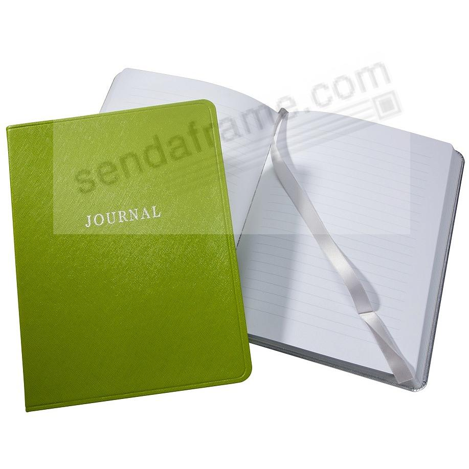 Saffiano-Lime Green Eco-Leather 9in Large Journal by Graphic Image™