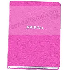 Saffiano-Pink Eco-leather 7'' Medium Travel JOURNAL by Graphic Image™