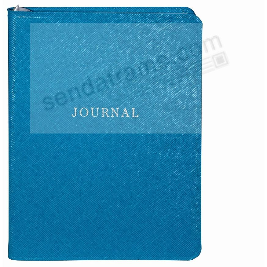Saffiano-Blue bonded leather 7'' Medium Travel Journal by Graphic Image™