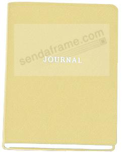 Saffiano-Gold Eco-Leather 7in Medium Travel Journal by Graphic Image™