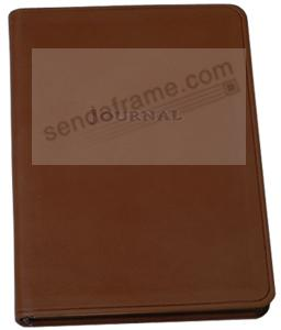 Rustico-Brown Italian eco-leather 7in Medium Travel Journal by Graphic Image™