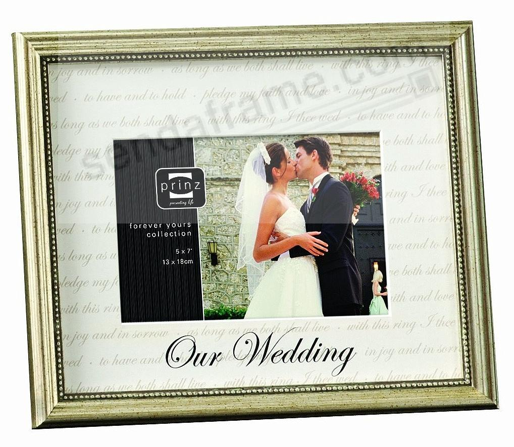 Wedding Gift Digital Picture Frame : OUR WEDDING matted frame by Prinz? - Picture Frames, Photo Albums ...