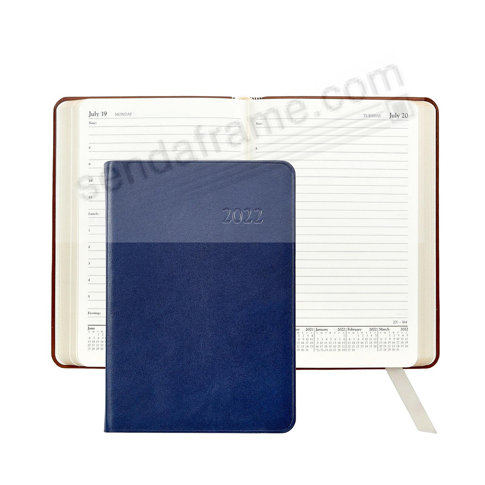 2018 TRADITIONAL NAVY-BLUE 8-in Fine Leather Daily Journal by Graphic Image™