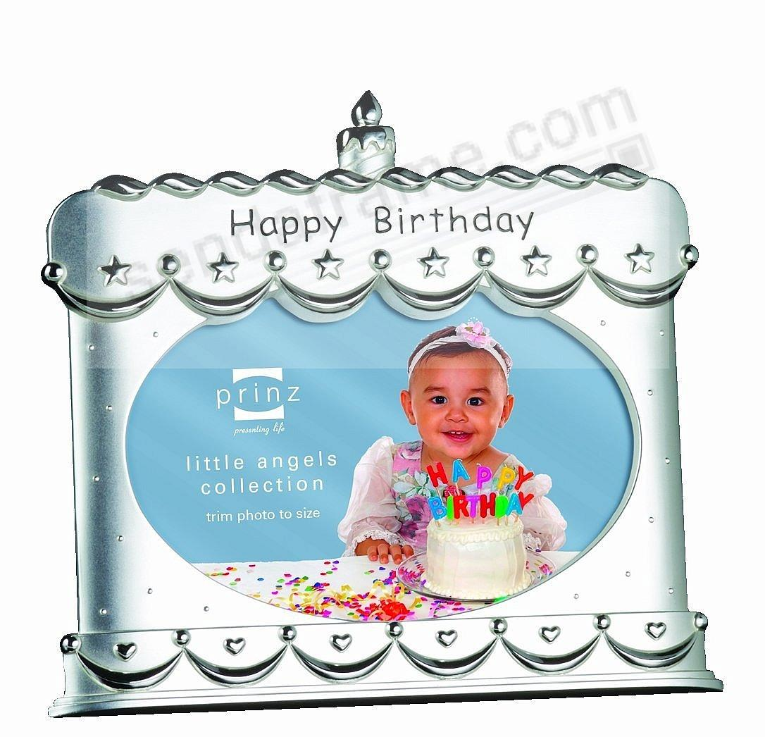 MAKE A WISH Silverplated Birthday Cake Frame By PrinzR