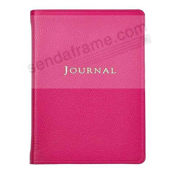 Pocket 6'' Small Pink Fine Leather Travel Journal by Graphic Image™