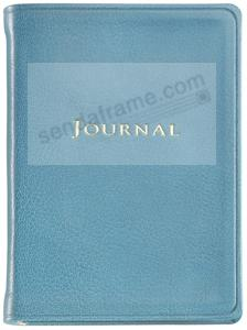 Pocket 6inch Small Turquoise Fine Leather Travel Journal by Graphic Image™