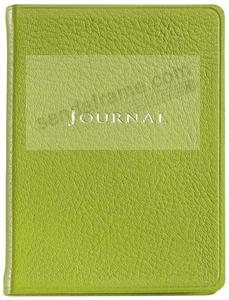 Pocket 6'' Small Lime-Green Fine Leather Travel Journal by Graphic Image™