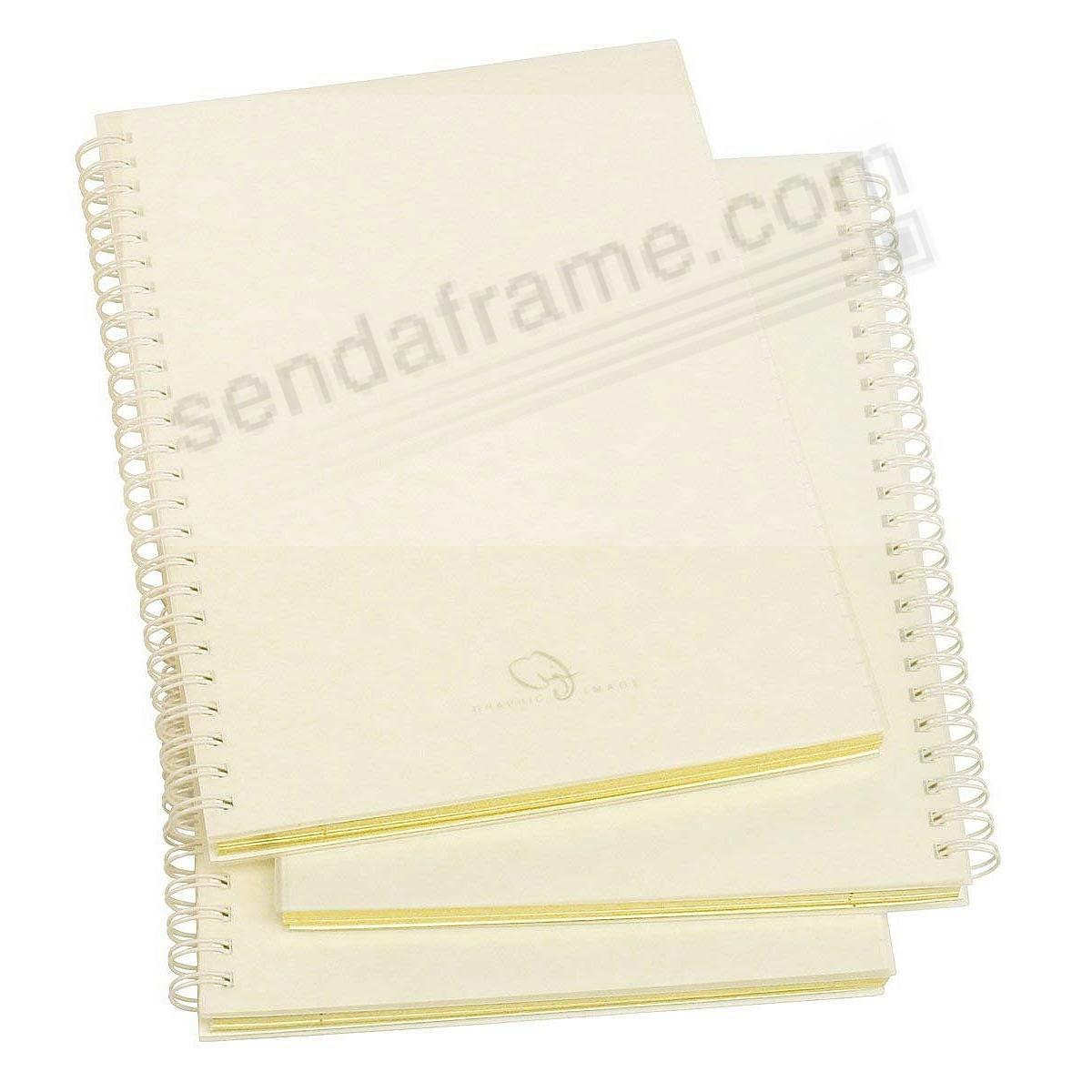 Genuine Wire-O-Notebook Refills for 9-in Journals (Large) w/Gold Edge by Graphic Image™ (set of 3)