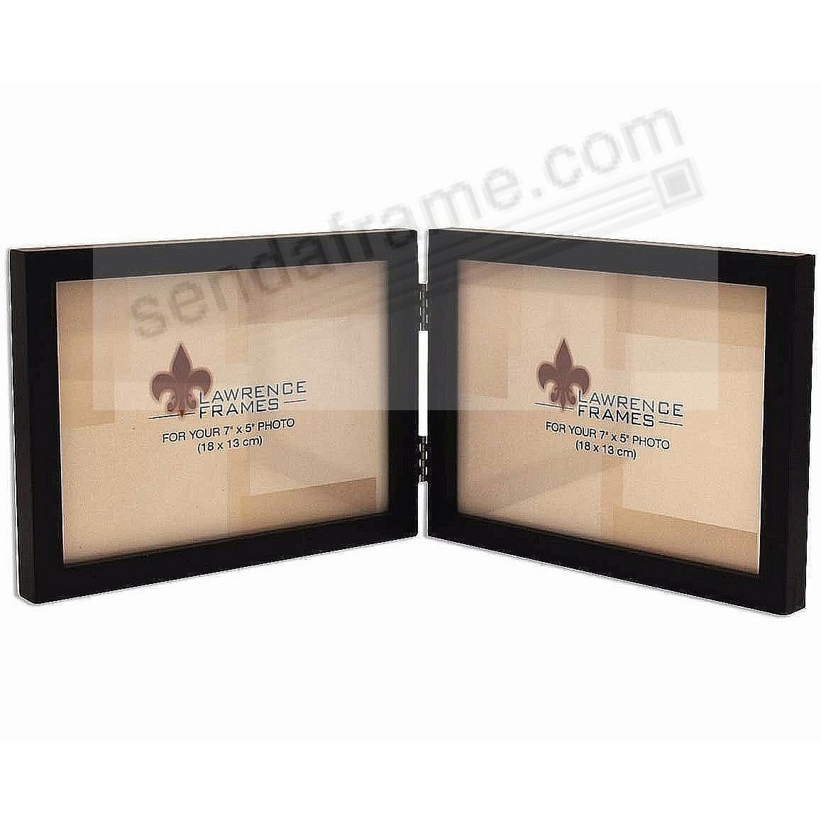 SQUARE CORNER classic <u>landscape</u> black hinged double by Lawrence®
