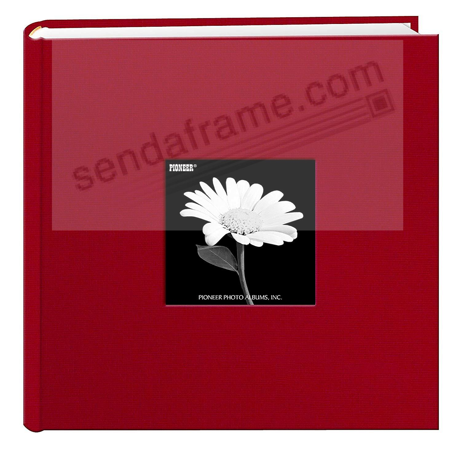 Apple Red Cloth 2 Up Frame Photo Album By Pioneer Picture Frames