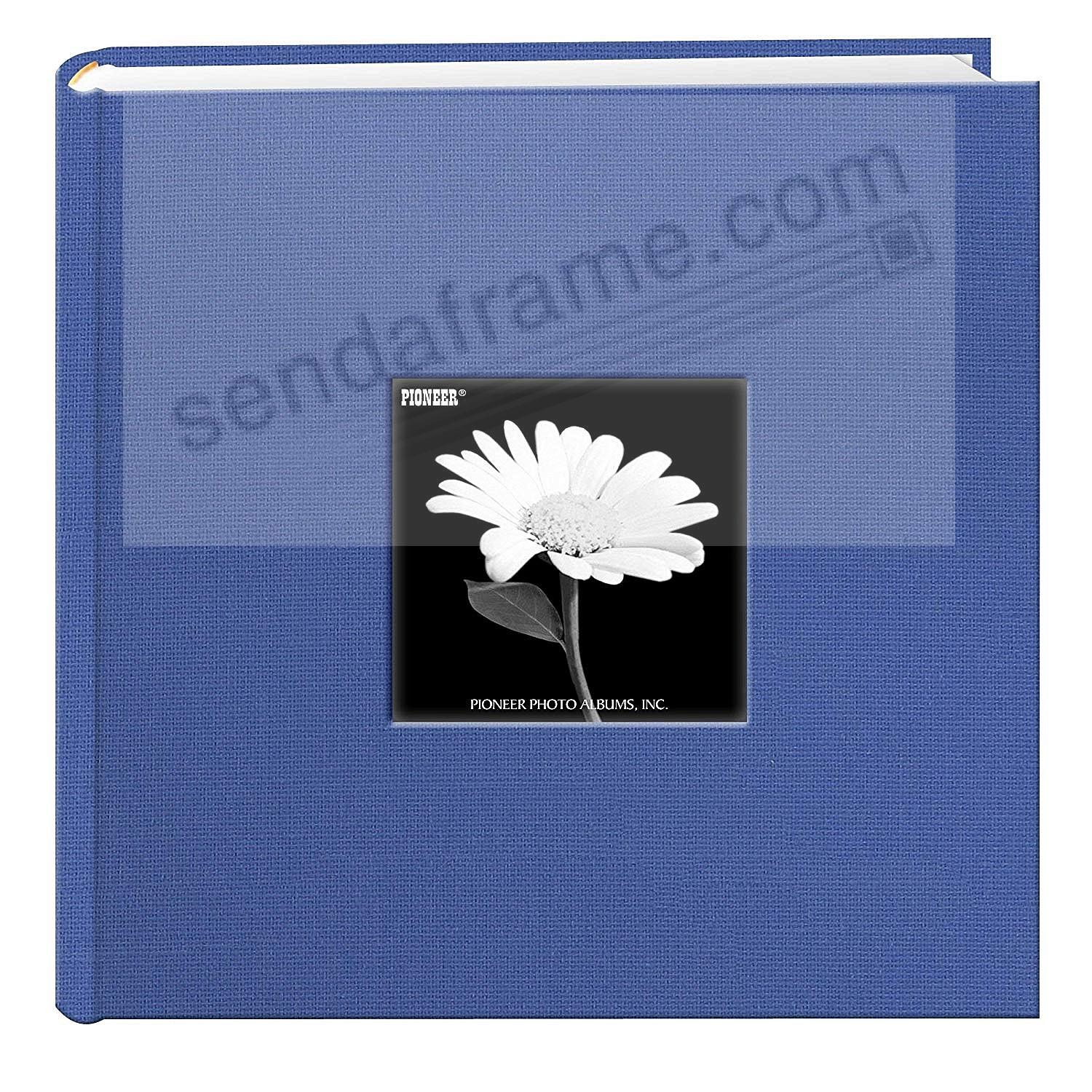 Sky-Blue cloth 2-up frame photo album by Pioneer®