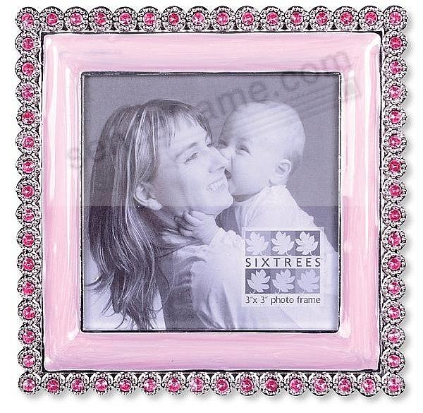 Jewel pink enamel frame by Sixtrees - Picture Frames, Photo Albums ...