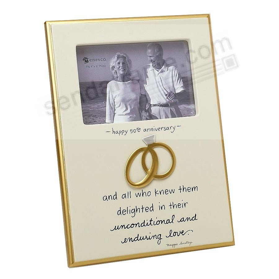enduring love 50th anniversary interlocking rings frame picture