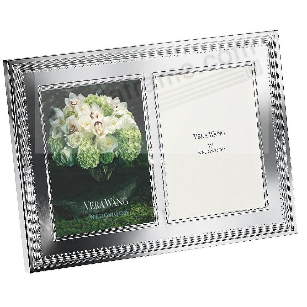 GROSGRAIN SILVER DOUBLE INVITATION Frame by Vera Wang® - Picture ...
