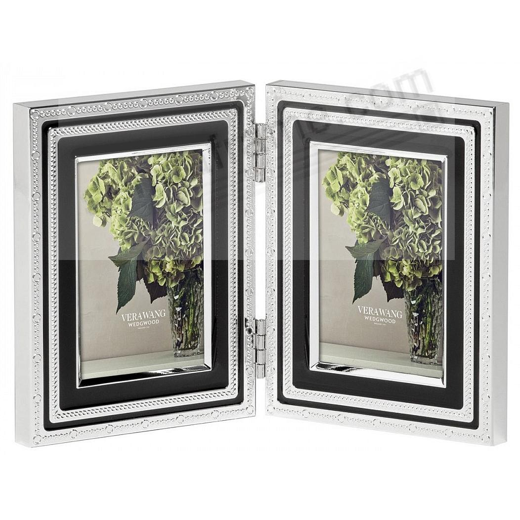 WITH LOVE NOIR Hinged Double Silver+ Black accent pattern by Vera Wang®