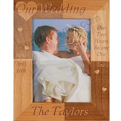 Celebrate your love with the personalized<br>OUR WEDDING frame