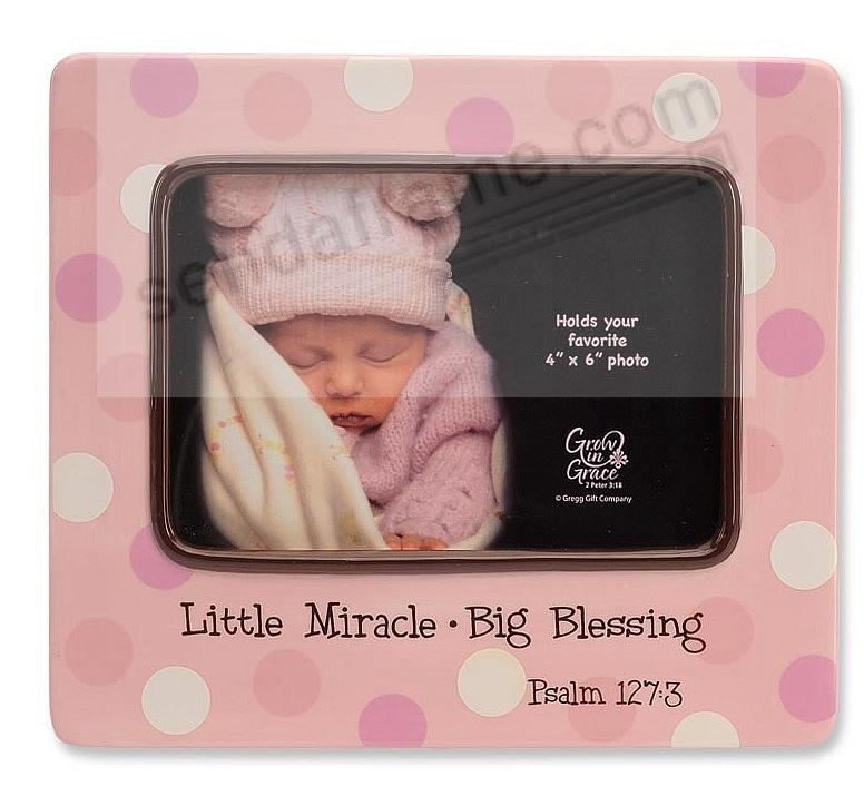 Adorable LITTLE MIRACLE - BIG BLESSING Pink Baby frame - Picture ...