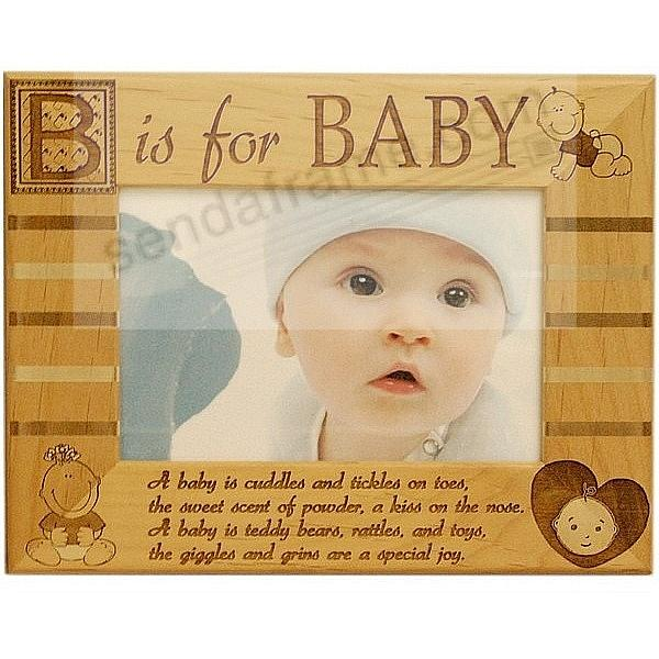 Celebrate Your Newborn with the Laser Etched<br>B IS FOR BABY frame