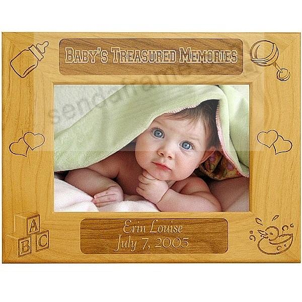 Celebrate Your Newborn with the Laser Etched<br>BABY'S TREASURED MEMORIES frame