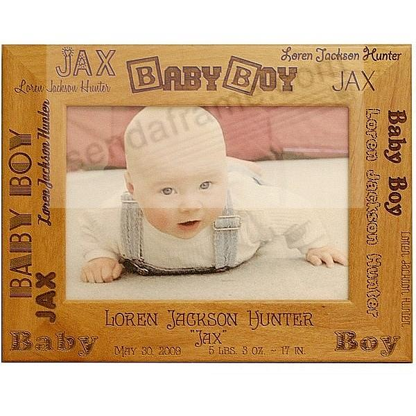Special BABY BOY BIRTH RECORD Personalized Laser Etched keepsake frame