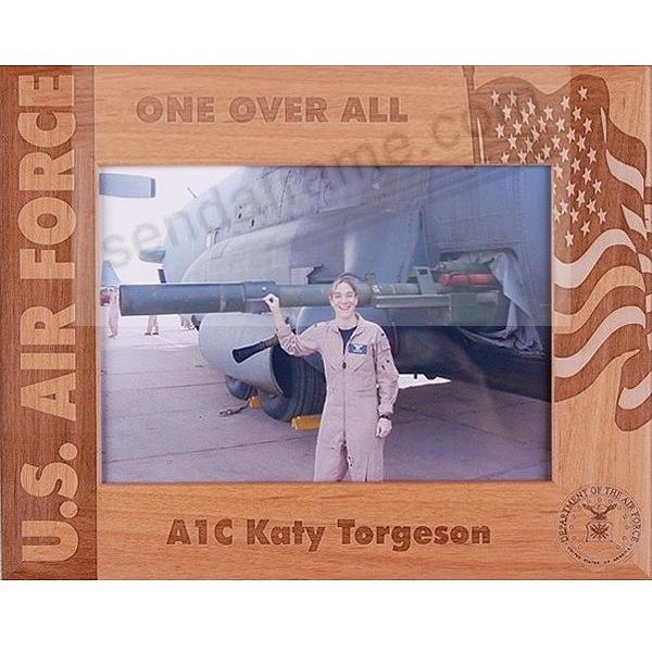 Celebrate a U.S. AIR FORCE loved one with our special Personalized Keepsake frame